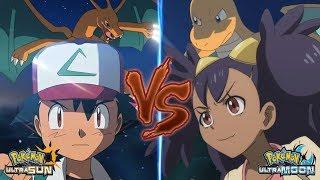 Pokemon Battle USUM Kanto Ash Vs Iris (Kanto Vs Unova)
