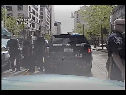 Seattle Police - Guy steals cop car