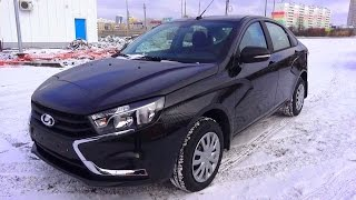 2016 Lada Vesta Classic 1.6 Мт. Start Up, Engine, And In Depth Tour.