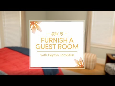 How to Furnish a Guest Room - YouTube