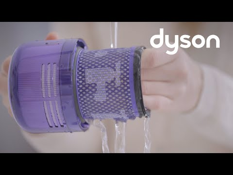 Dyson V11 Animal cord-free vacuums with LED screen - Washing the filter unit (US)