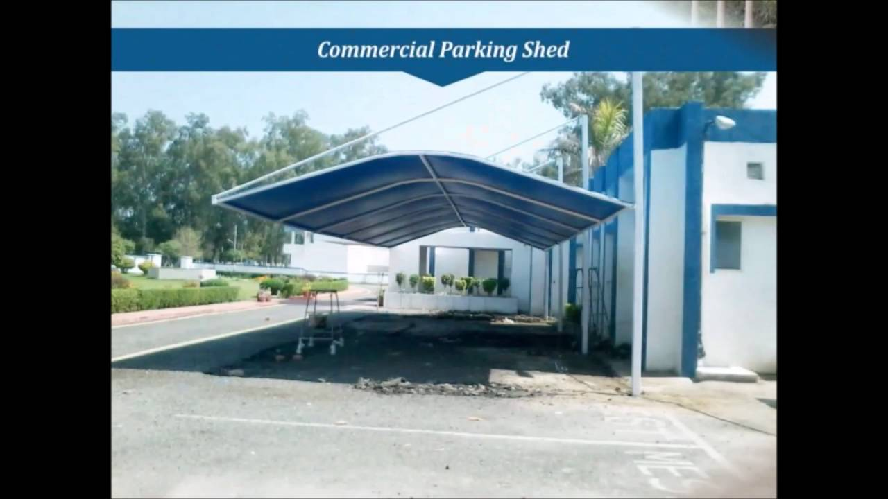 tensile parking car mohali shed in ludhiana structure sheds panchkula manufacturer chandigarh
