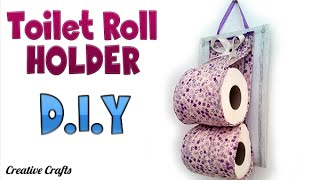 DIY Crafts: TOILET PAPER ROLL HOLDER -