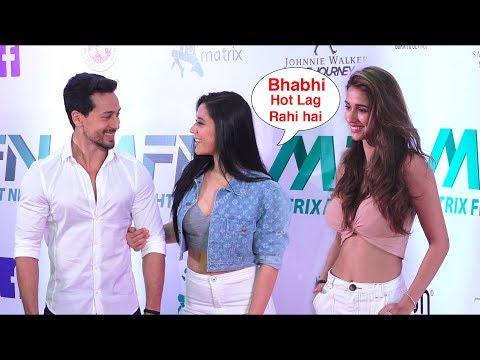 Tiger Shroff with his Beautiful sister krishna Shroff And H0T girlfriend Disha Patani | Red Carpet