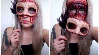 DIY Masquerade Flesh Mask Halloween Tutorial