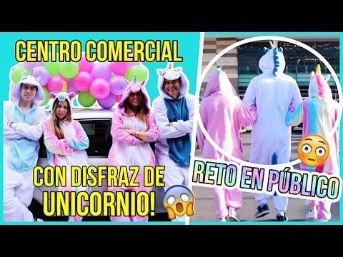 ¡UN DÍA CON PIJAMA DE UNICORNIO! - RETOS DIVERTIDOS En CENTRO COMERCIAL!! || Bianki Place ♡