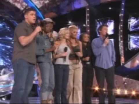 American Idol - Season 2 - Top 7 Group Medley - For the Longest Time/God Bless the USA