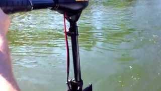 Minn Kota 30 trolling motor on paddle boat