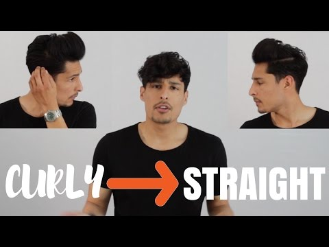 CURLY TO STRAIGHT HAIR | Wavy Mens Hairstyles