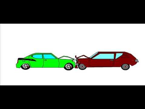 car crash animation - YouTube