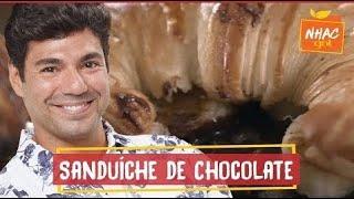 Croissant recheado com chocolate, avelã, banana e flor de sal | Felipe Bronze | Perto do Fogo