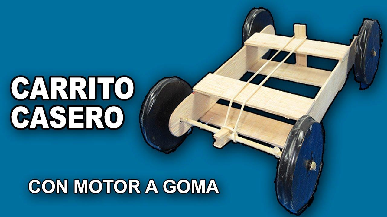 Como hacer un coche o carro casero de madera con motor a for Carritos de cocina de madera