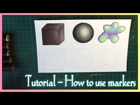 TUTORIAL -  How to use alcohol markers (Graph