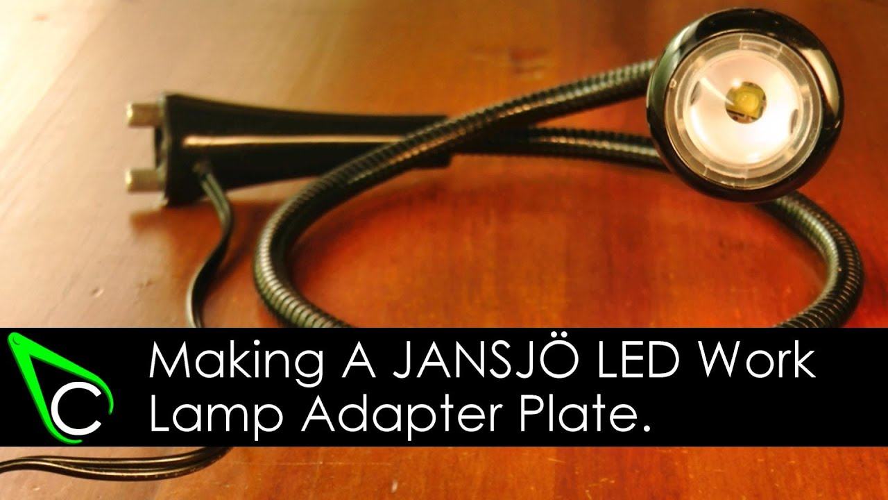 Machining A Jansj 214 Led Work Lamp Adapter Plate In The Home