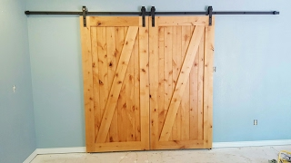 Pro Build #barndoor with hidden fasteners.
