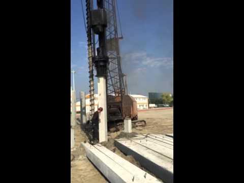 Работа копровой установки с буровым оборудованием РДК-250. Beststroy.biz