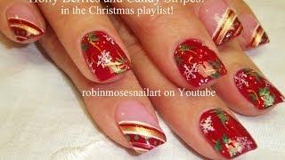 10 Nail Art Tutorials | Diy Easy Christmas Nail Art Designs | Holly - Candy - Snowflakes!