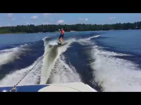Wakeboarding face plant!