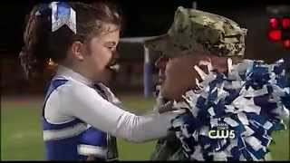 Navy Sailor Surprises 7-Year-Old Daughter at High School Football Game