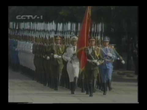 Bill Clinton Jiangzemin US China Honor guard Chinese PLA army 克林顿江泽民三军仪仗队