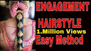 Engagement Hairstyle easy method... 👸