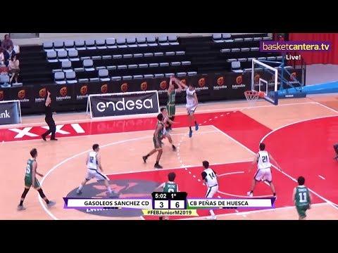 U18M -  ALBACETE BASKET Vs CB PEÑAS DE HUESCA - Cpto. España Junior 2019 (BasketCantera.TV)