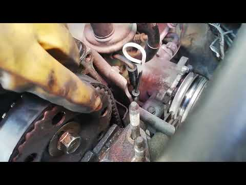 Timing Belt and Oil Seals Replacement Mitsubishi 4g13 Engine Part 1