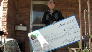$250,000 Money Magnate Second Chance Winner - We surprised Luccas from Pueblo with a $250,000 check he won from entering his non-winning Money Magnate Scratch tickets!
