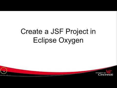 Create a JSF Project in Eclipse Oxygen