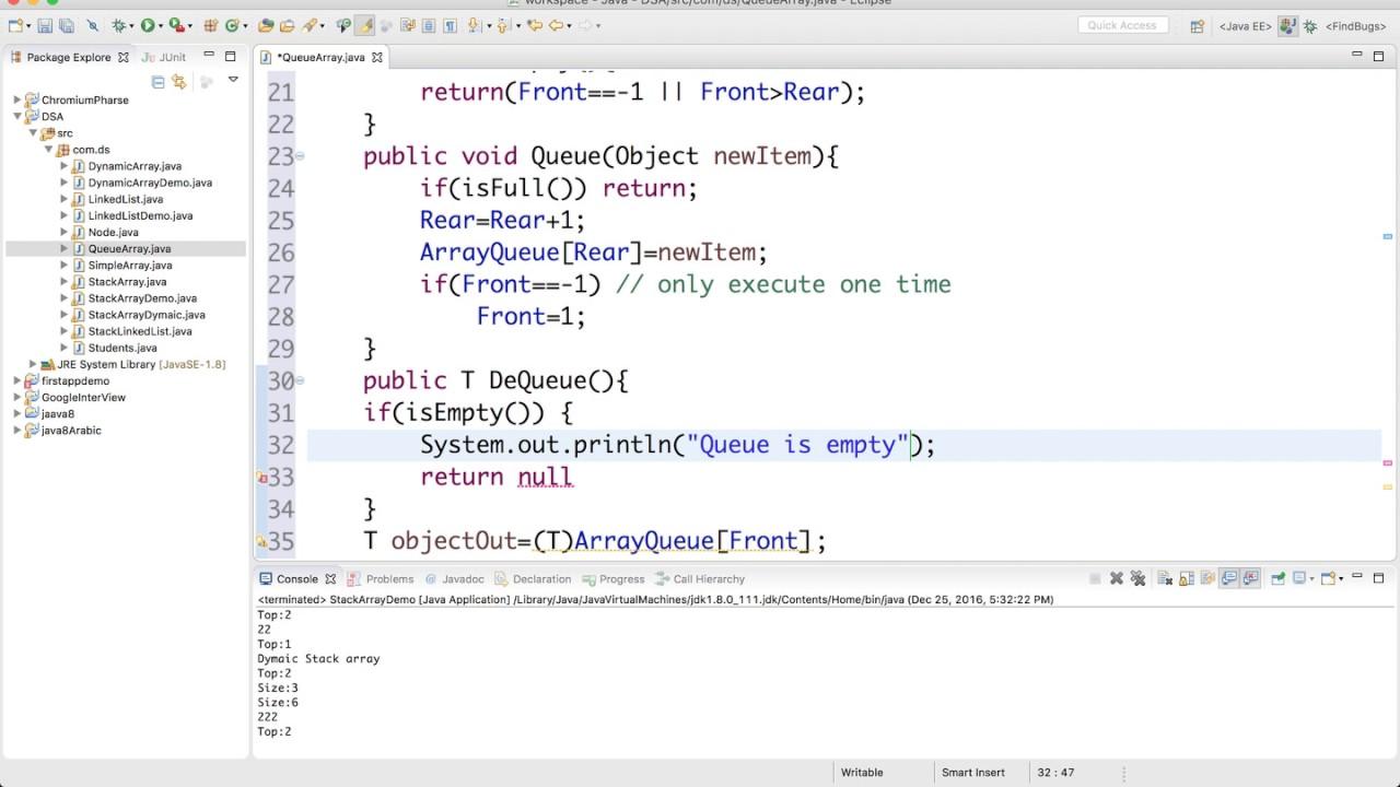 12- implement Queue in Java - YouTube