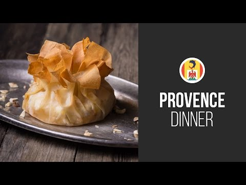 Baked Brie Cheese with Honey and Hazelnuts in Filo Pastry || Around the World:Provence Dinner