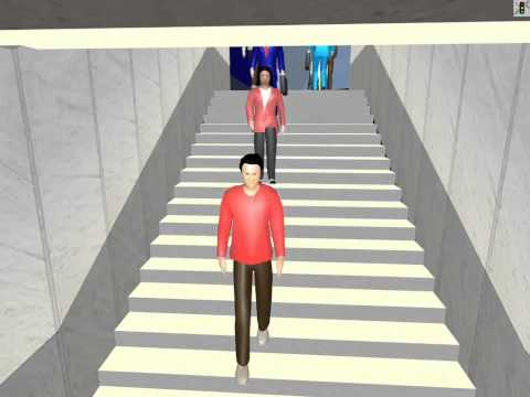Simulation of Pedestrians, Traffic, and Public Transport at an Airport Curbside