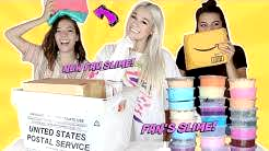 RATING FAN'S SLIME PACKAGES WITH MY SISTER & SHOWING MY COUSIN SLIME FOR THE FIRST TIME!