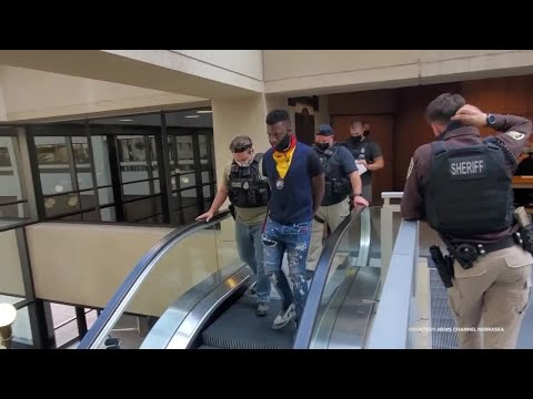 David Mitchell's Arrest at Omaha City Offices