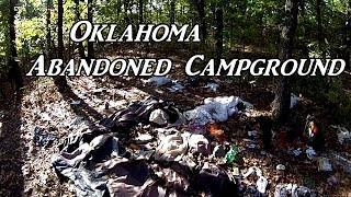 Oklahoma Abandoned Campground VanĻife On the Road