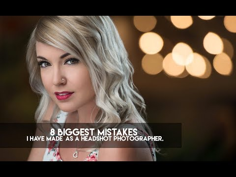 8 Biggest mistakes I have made as a headshot photographer.