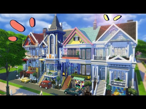 SAN FRANCISCO TOWNHOUSES | Sims 4 House Building