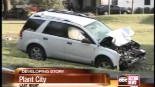 Three teens injured when SUV crashes into UTV