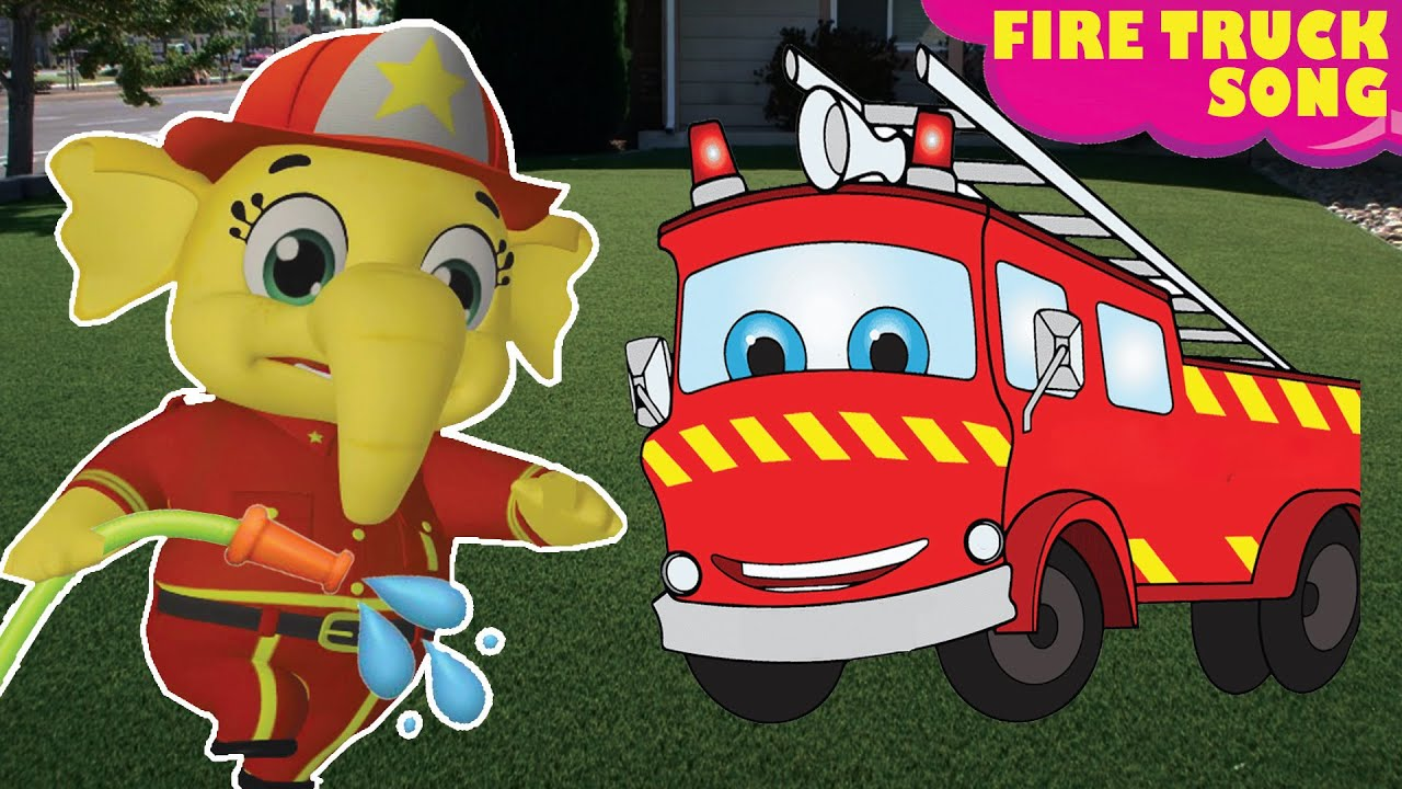 Fire Truck Firefighter Song    Watch Out For Dangers + More Nursery Rhymes & Kids Song   Baby Songs