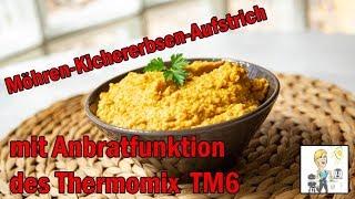 Anbratfunktion des Thermomix TM6 beim Möhren-Kichererbsenaufstrich