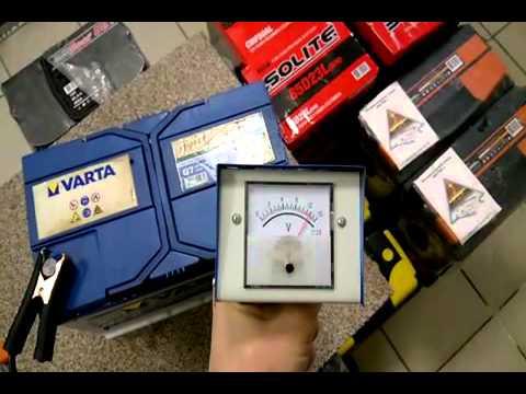 Проверяем аккумулятор Varta blue dinamic  G8 с помощью нагрузочной вилки.
