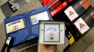 Проверяем аккумулятор Varta blue dinamic  G8 с помощью нагрузочной вилки.(Как понять наверняка, что ваш старый аккумулятор не просто разрядился, а совсем сдох и его пора менять? Спер..., 2016-04-19T15:20:07.000Z)