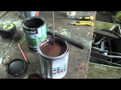 Ворота+калитка с профнастила день 3 покраска
