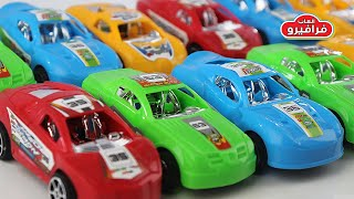 العاب سيارات اطفال وتعلم الالوان باللغتين العربية والانجليزية لعبة سباق السيارات للاطفال