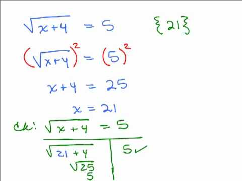 Worksheets Solving Radical Equations solving radical equations 1 youtube 1
