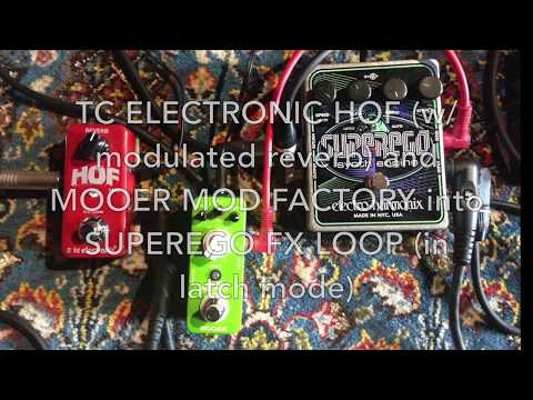 Using a MOOER MOD FACTORY (and Friends) for EHX SUPEREGO Drone Animation