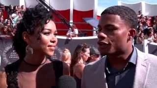 Alexandra Shipp and Jordan Calloway talk