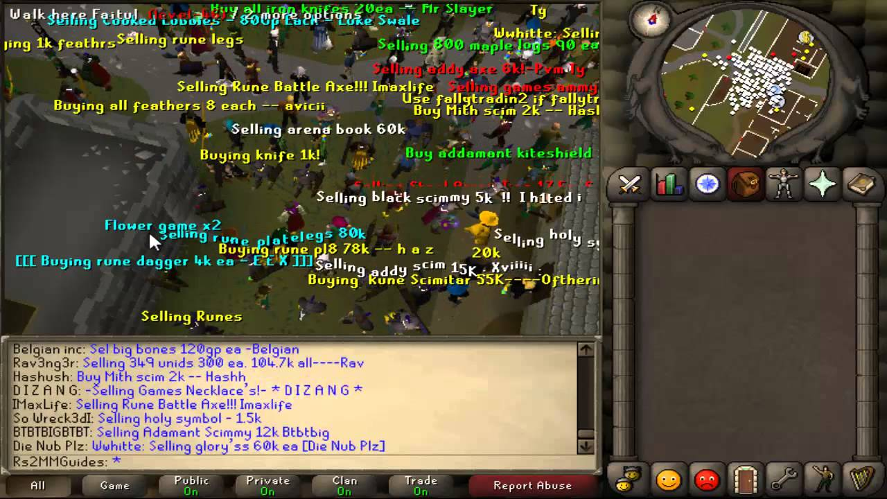 2007 runescape guide specific spots for buying selling items youtube