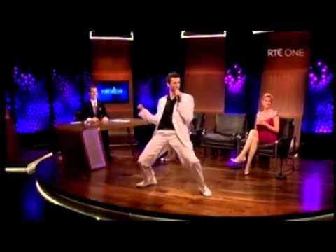 Crystal Swing doing huckle buck on late late show