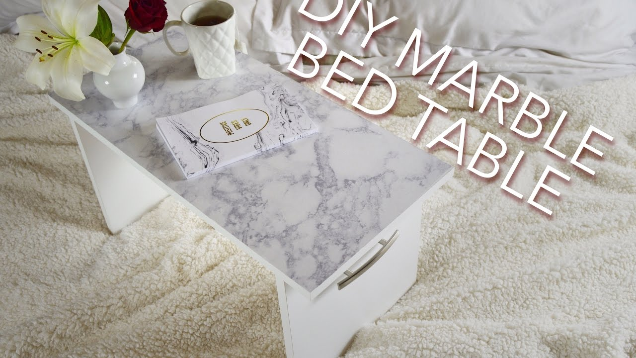 DIY MARBLE BED TABLE